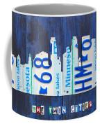 Minneapolis Minnesota City Skyline License Plate Art The Twin Cities Coffee Mug