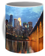 Minneapolis Skyline Photography Stone Arch Bridge Coffee Mug