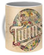 Minnesota Twins Poster Vintage Coffee Mug