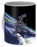 Mir Russian Space Station In Orbit Coffee Mug by Leonello Calvetti