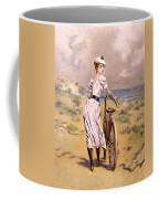 Miss Bicycle 1894 Coffee Mug
