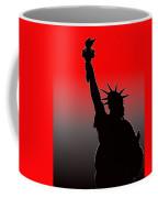 Miss Liberty Abstract Coffee Mug