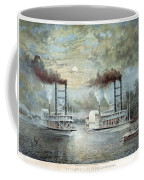 Mississippi River Race, C1859 Coffee Mug