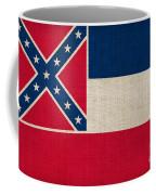 Mississippi State Flag Coffee Mug by Pixel Chimp