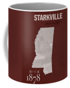 Mississippi State University Bulldogs Starkville College Town State Map Poster Series No 068 Coffee Mug