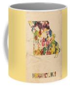 Missouri Map Vintage Watercolor Coffee Mug