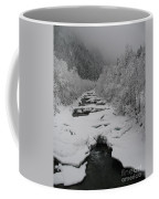 Mist Above The Creek Coffee Mug