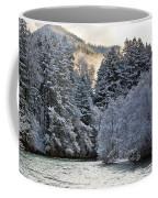 Mist And Snow On Trees Coffee Mug
