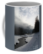 Mist Over A Snowy Valley Coffee Mug