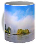 Mist Rising On The Willamette River Coffee Mug