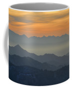Mists In The Mountains At Sunset Coffee Mug