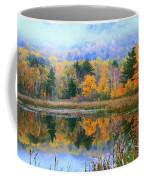 Misty Autumn Pond  Coffee Mug