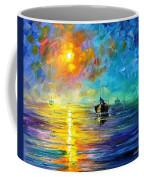 Misty Calm - Palette Knife Oil Painting On Canvas By Leonid Afremov Coffee Mug