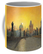 Misty Dawn Charles Bridge Prague Coffee Mug by Richard Harpum