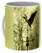 Misty Egret - Gold Coffee Mug