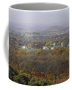 Misty Fall Pano Of The Shenandoah Valley Coffee Mug