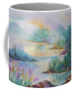 Misty Morn On A  Mountain Lake Coffee Mug