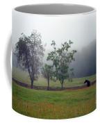 Misty Morning At The Farm Coffee Mug