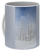 Misty Morning In Yellowstone National Park Coffee Mug