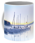 Misty Morning Sailboats Coffee Mug