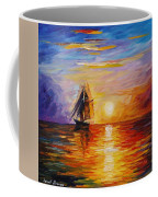 Misty Ship - Palette Knife Oil Painting On Canvas By Leonid Afremov Coffee Mug