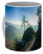 Misty Sunrise On Neurathen Castle Coffee Mug