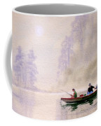 Misty Sunrise On The Lake Coffee Mug