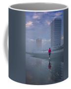 Misty Walk On Daytona Morning Coffee Mug