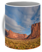 Mitchell Butte And Gray Whiskers In The Evening Light Coffee Mug