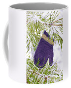Mitten In Snowy Pine Tree Coffee Mug