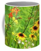 Mixed Flowers Bloom In A Garden Coffee Mug