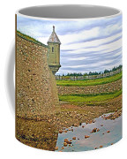 Moat And Wall Around Fortress In Louisbourg Living History Museum-ns Coffee Mug