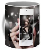 Mobile Phone Capturing A Broadway Cabaret Show Coffee Mug