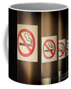 Mobile Photography Toned Row Of No Smoking Signs Coffee Mug