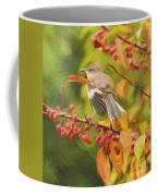 Mockingbird And Berries Coffee Mug