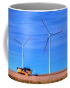 Modern Agriculture And Wind Turbines Coffee Mug