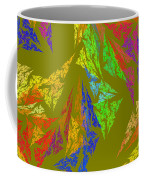 Modern Art Abstract Fractal Green Background Coffee Mug
