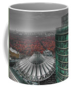 Modern Building With Autumn Forest Coffee Mug