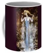 Modern Vintage Lady In Blue Coffee Mug