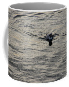 Moire Silk Water And A Long Tailed Duck Coffee Mug