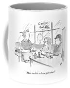 Moist Towelette To Cleanse Your Palate? Coffee Mug
