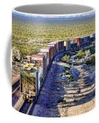 Mojave Desert Train By Diana Sainz Coffee Mug