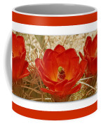 Mojave Mound Cactus Art Poster - California Collection Coffee Mug