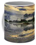 Molas Lake Sunrise With Scripture Coffee Mug