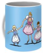 Mom With Daughters Wearing Dirndl Coffee Mug