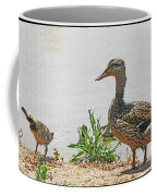 Momma Duck And Baby With A Different View Coffee Mug