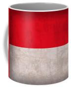 Monaco Flag Vintage Distressed Finish Coffee Mug