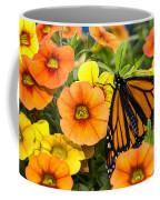 Monarch Among The Flowers Coffee Mug