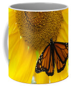 Monarch And Sunflower Coffee Mug