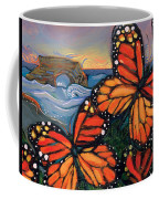 Monarch Butterflies At Natural Bridges Coffee Mug by Jen Norton